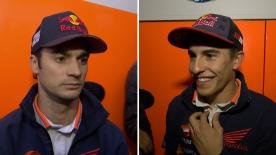 Following two days testing new parts and a 2018 prototype of the RC213V, we hear from riders Marc Marquez and Dani Pedrosa