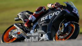 The Repsol Honda duo led the way with Johann Zarco leading the charge for Aprilia in third