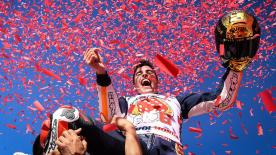 An incredible final race in the premier class saw Marc Marquez taking his sixth title as teammate Dani Pedrosa claimed a memorable victory