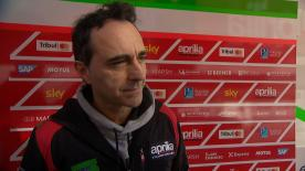 The Aprilia Racing Team Gresini Team Manager explains what the team has tested and the plan for pre-season in 2018