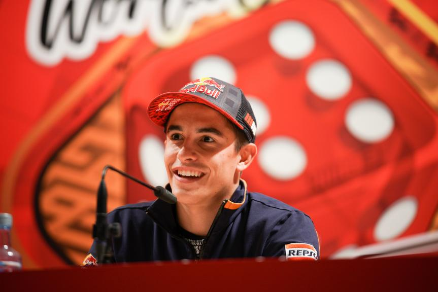 Marquez celebrates in Cervera