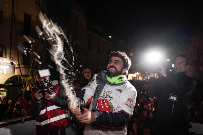 Marquez celebrates in Cervera