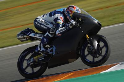 Martín lidera la jornada privada de test de Moto3™