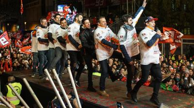 Márquez celebró su sexto título en Cervera
