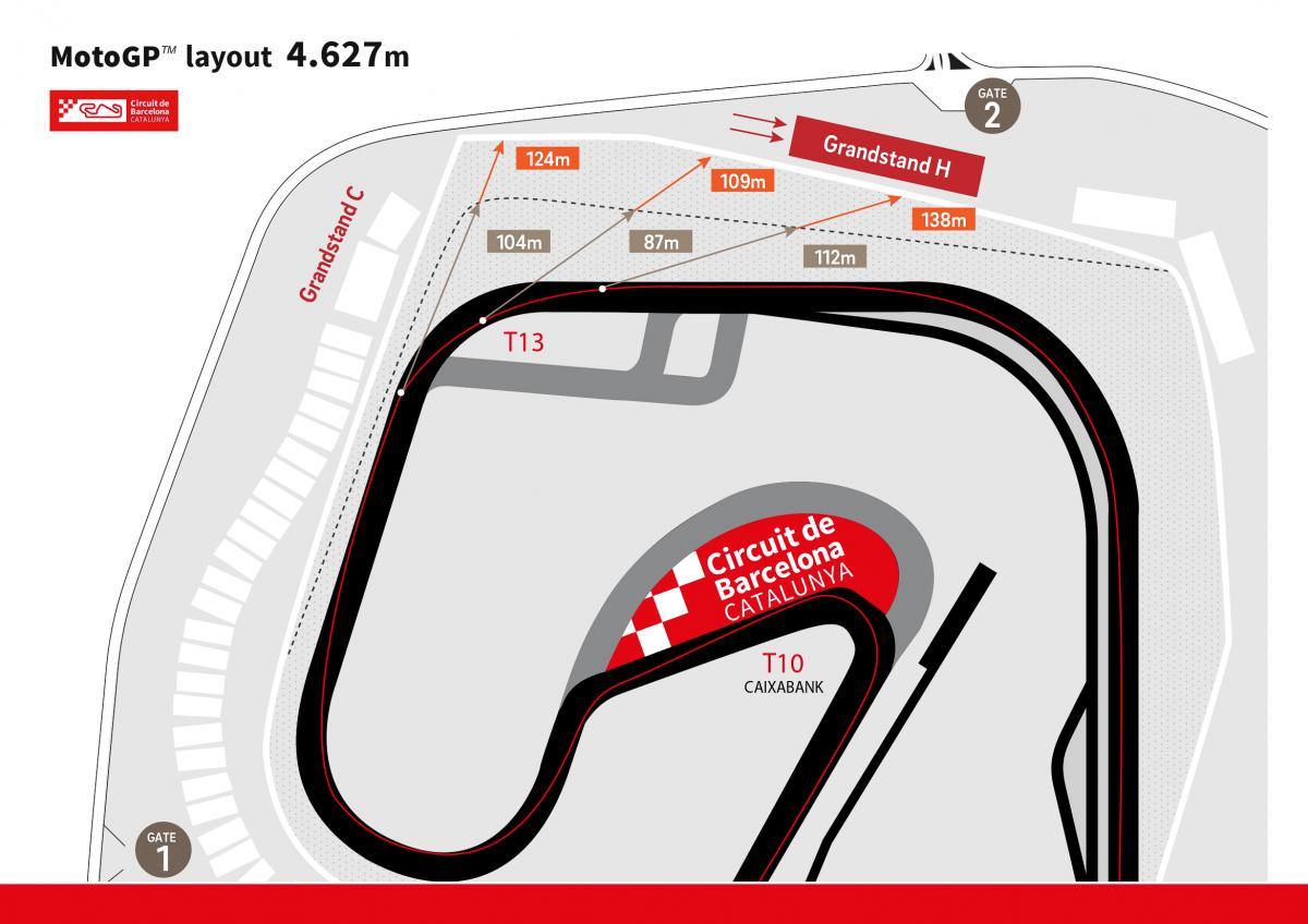 circuit de barcelona catalunya plans track changes motogp. Black Bedroom Furniture Sets. Home Design Ideas
