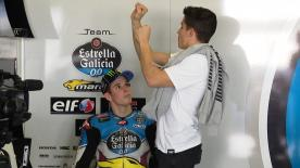 Moto2™ race winner stands in for the injured Tom Lüthi during testing with EG 0,0 Marc VDS - with brother Marc in the box to give some tips