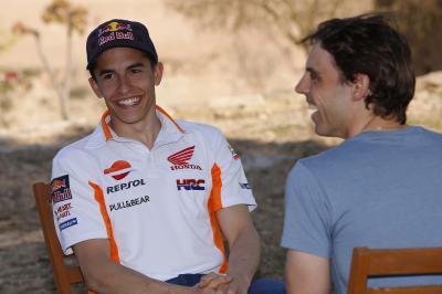 Le team Repsol Honda, au défi de ne pas rire