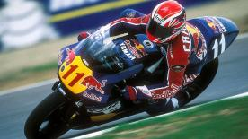 Relive the incredible 1998 British Grand Prix, where Simon Crafar overhauled Mick Doohan during his most dominant era