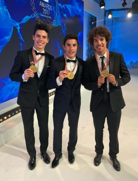 Marc Marquez, Franco Morbidelli, Joan Mir, 2017 Awards