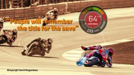 Enjoy the six-time World Champion's save at the Circuit Ricardo Tormo, as we show the on-board data and speak to Marquez about it