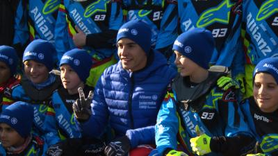 A day with the Marquez brothers at Allianz Junior Motor Camp