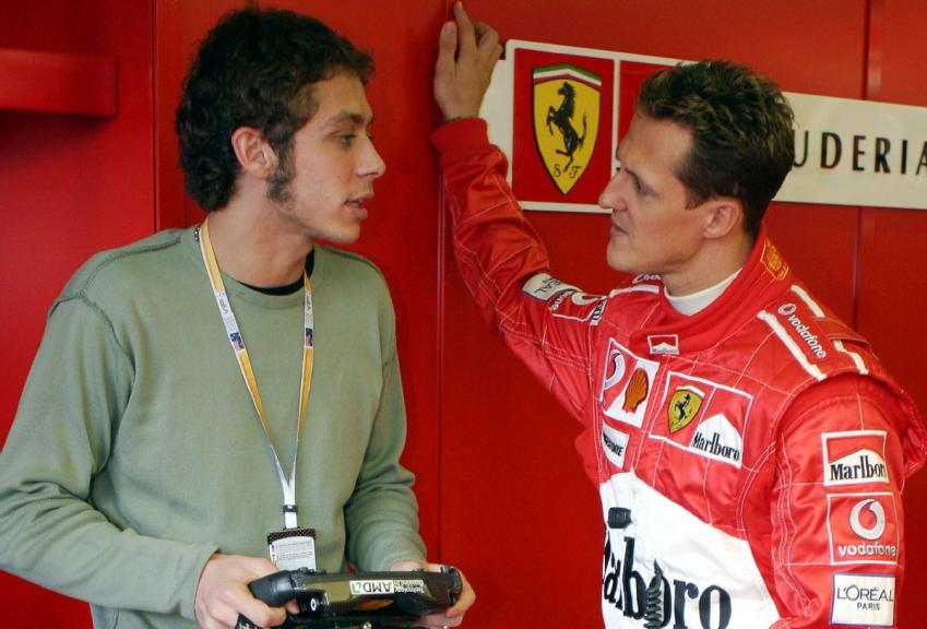 Michael Schumacher, Valentino Rossi