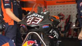Nel secondo giorno di test a Sepang, il box Repsol monta una novità aerodinamica