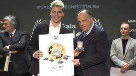 At the RFME Gala in Madrid, Joan Mir explains that he is aiming for big things for his debut Moto2™ season