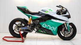 The brand new motorcycle for the FIM Enel MotoE™ World Cup was unveiled by Loris Capirossi at the Vallelunga Circuit