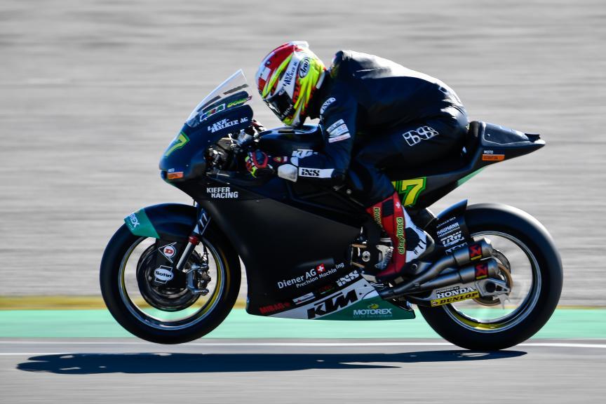 Dominique Aegerter, Kiefer Racing, Valencia Moto2 &Moto3 Official Test