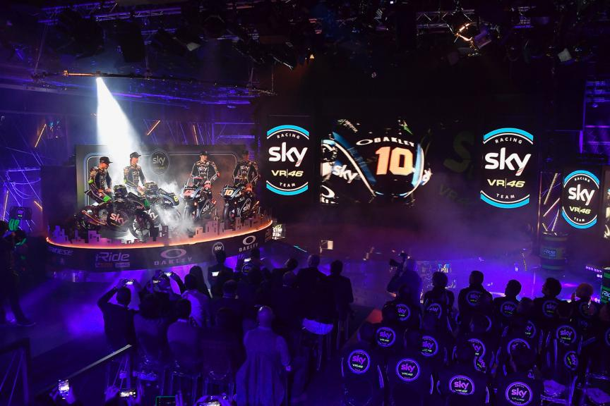 SKY Racing Team VR46 Moto2/Moto3 2018 launch
