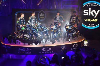 El Sky Racing Team VR46 se viste de largo en Milán
