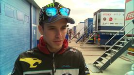 Alex Marquez discusses how he is feeling to be back on his Moto2™ bike as he aims to challenge for the title this year