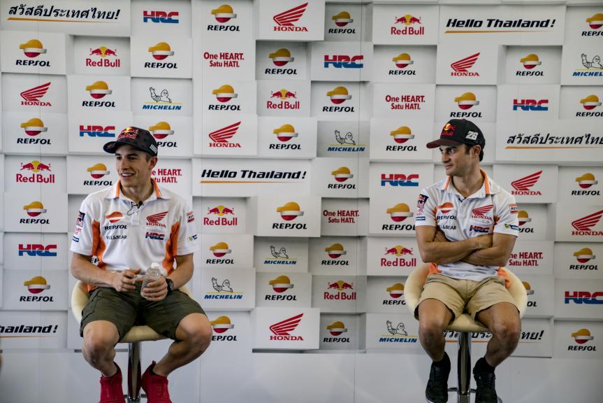 Marc Márquez and Dani Pedrosa in Buriram