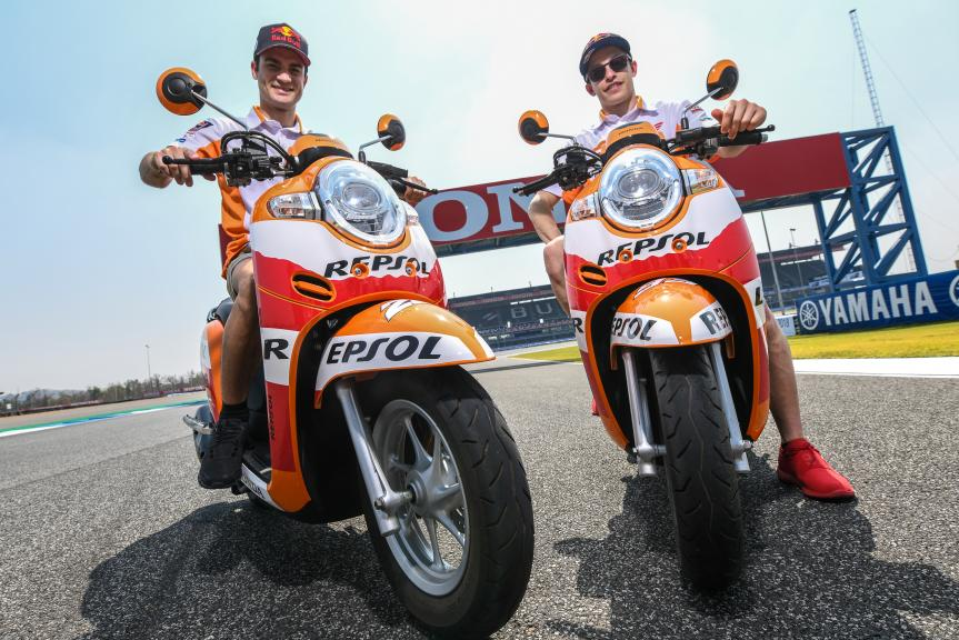 Marc Márquez and Dani Pedrosa in Buriram