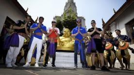 Ahead of the first ever MotoGP™ test in Buriram, Thailand's capital of Bangkok hosted an event to welcome the grid to the country