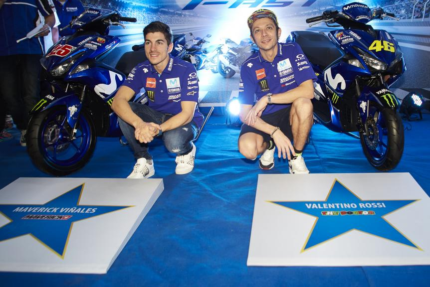 Rossi and Viñales in Yamaha Motor Philippines