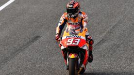 On his 25th birthday, Marc Marquez led the way ahead of teammate Dani Pedrosa, whilst Miller impressed in third
