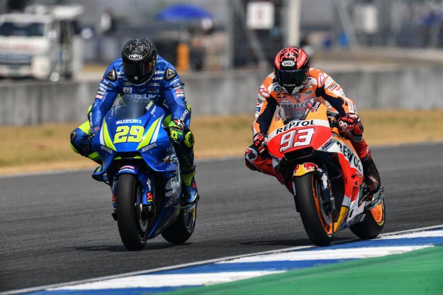 Andrea Iannone, Marc Marquez, Buriram MotoGP™ Official Test