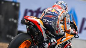 Dani Pedrosa made it three Hondas at the top of the timesheets across all three days in Thailand, as new technical innovations broke cover