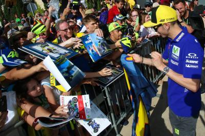 Rossi valora las salvadas de Márquez en 'Riders'