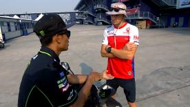 The Alma Pramac Racing rider gives some advice to the new member of Monster Yamaha Tech 3 team