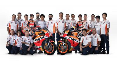 Photo session with Marc Marquez and Dani Pedrosa