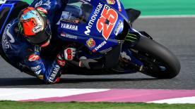 Movistar Yamaha MotoGP's Maverick Vi?ales was the quickest rider at the end of the first day at the Losail International Circuit