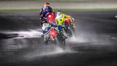 MotoGP™ grid discuss the wet test in Qatar