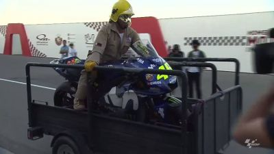 A slightly second-hand looking Yamaha M1 belonging to Valentino Rossi