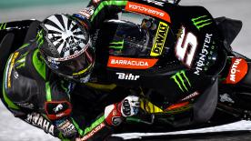 Monster Yamaha Tech 3's Johann Zarco ended Day 3 of the #QatarTest as the quickest rider, ahead of Rossi and Dovizioso