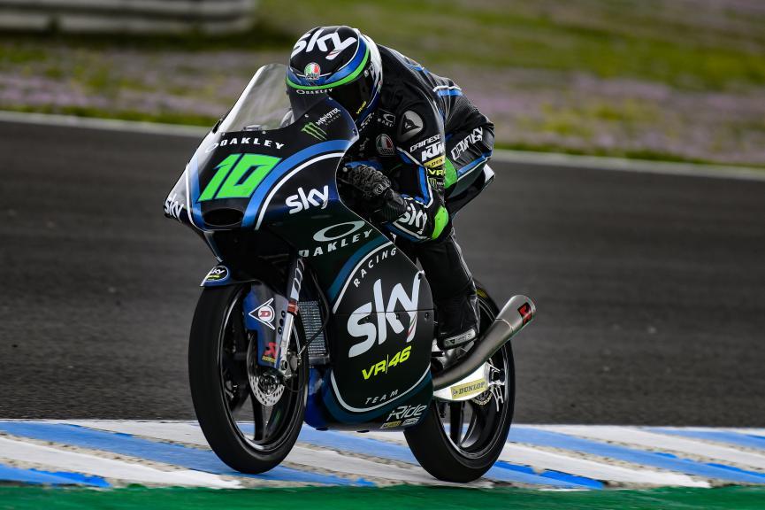 Dennis Foggia, Sky Racing Team VR46, Jerez Moto2 & Moto3 Official Test