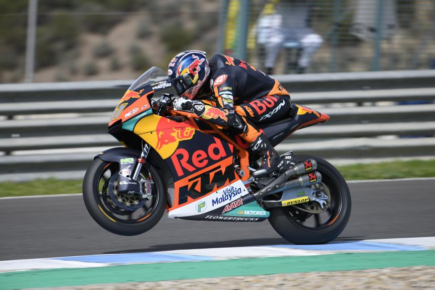 Brad Binder, Red Bull KTM Ajo, Jerez Moto2 & Moto3 Official Test