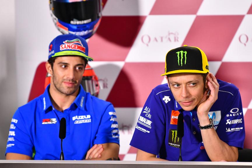 Valentino Rossi, Movistar Yamaha MotoGP, Andrea Iannone, Team Suzuki Ecstar, Grand Prix of Qatar