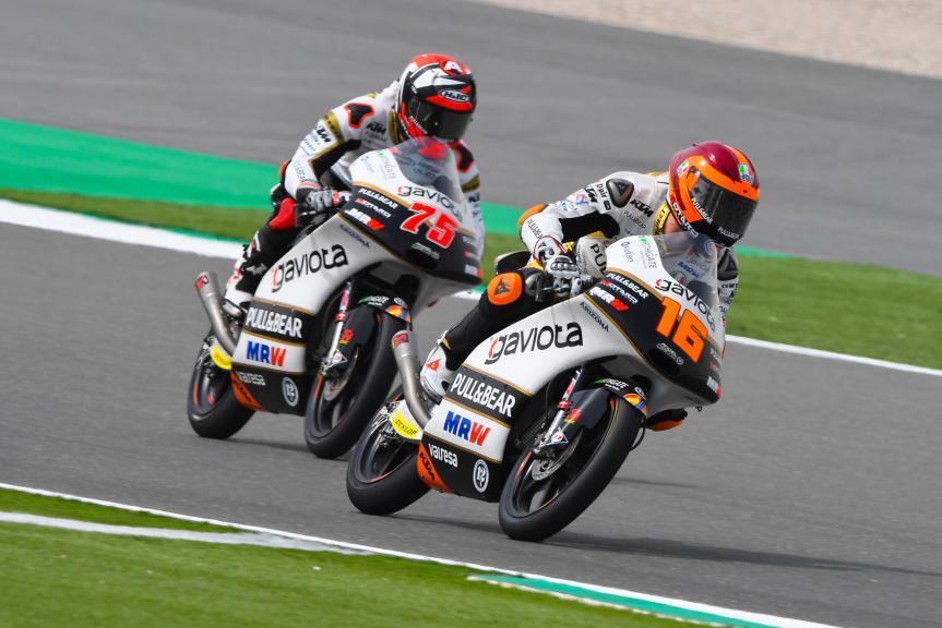 Andrea Migno, Albert Arenas, Angel Nieto Team Moto3, Grand Prix of Qatar
