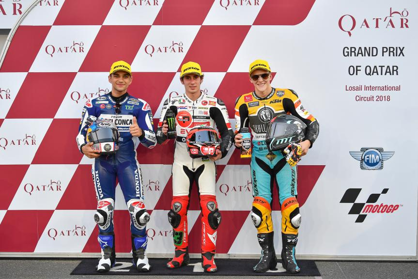 Niccolo Antonelli, Jorge Martin, Gabriel Rodrigo, Grand Prix of Qatar