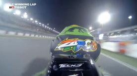 Relive Zarco' pole-winning lap's pole setting lap at the Losail International Circuit