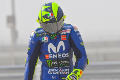 Watch Rossi's fast crash in FP3 at the #QatarGP!