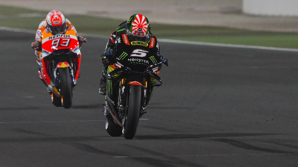 Johann Zarco, Monster Yamaha Tech 3, Marc Marquez, Repsol Honda Team, Grand Prix of Qatar