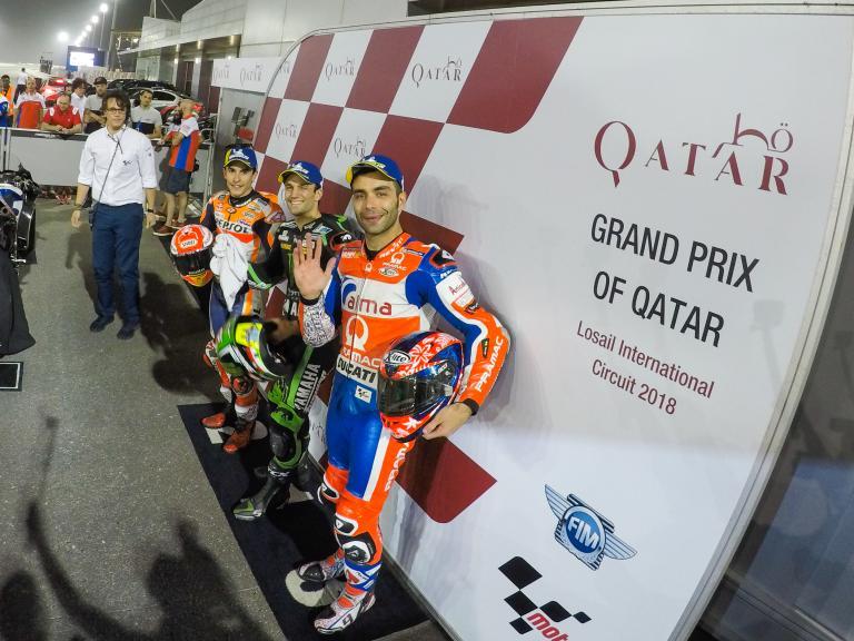 Johann Zarco, Marc Marquez, Danilo Petrucci, Grand Prix of Qatar