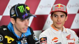 The Repsol Honda rider talks about receiving an unusual dashboard message during Free Practice in Qatar