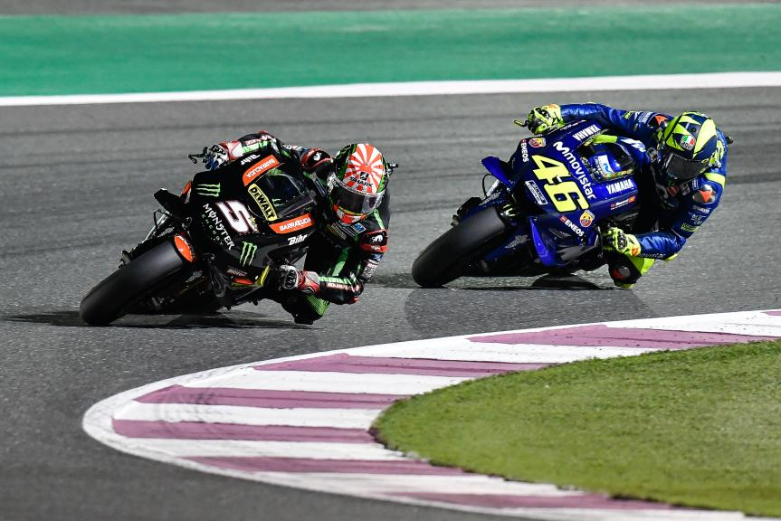 Johann Zarco, Monster Yamaha Tech 3, Valentino Rossi, Movistar Yamaha MotoGP, Grand Prix of Qatar