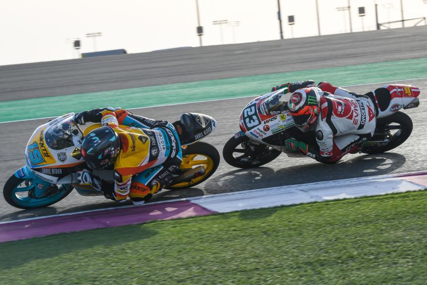 Gabriel Rodrigo, RBA Boe Skull Rider, Niccolo Antonelli, SIC58 Squadra Corse, Grand Prix of Qatar