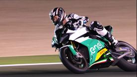 Simon Crafar puts the new MotoE™ machine through its paces at the Losail International Circuit and discusses his experience